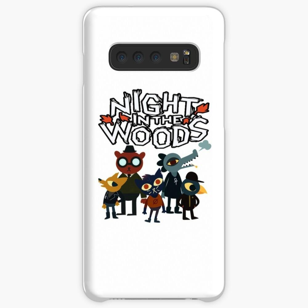 Nacht im Wald Hülle & Klebefolie für Samsung Galaxy