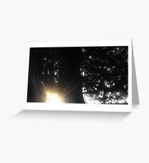 Sunset Breaking Through Greeting Card