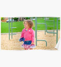 A Young girl at Playground Poster