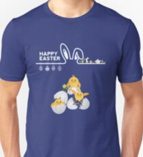 Chick Egg And Bunny Happy Easter T-Shirt Unisex T-Shirt