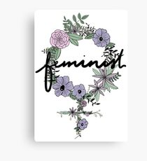 Feminist Flowers - In Color Canvas Print