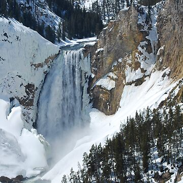 The Winter Melt - Lower Yellowstone Falls  by buzzword