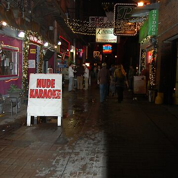 Nude Karaoke Bar sign by djtannock