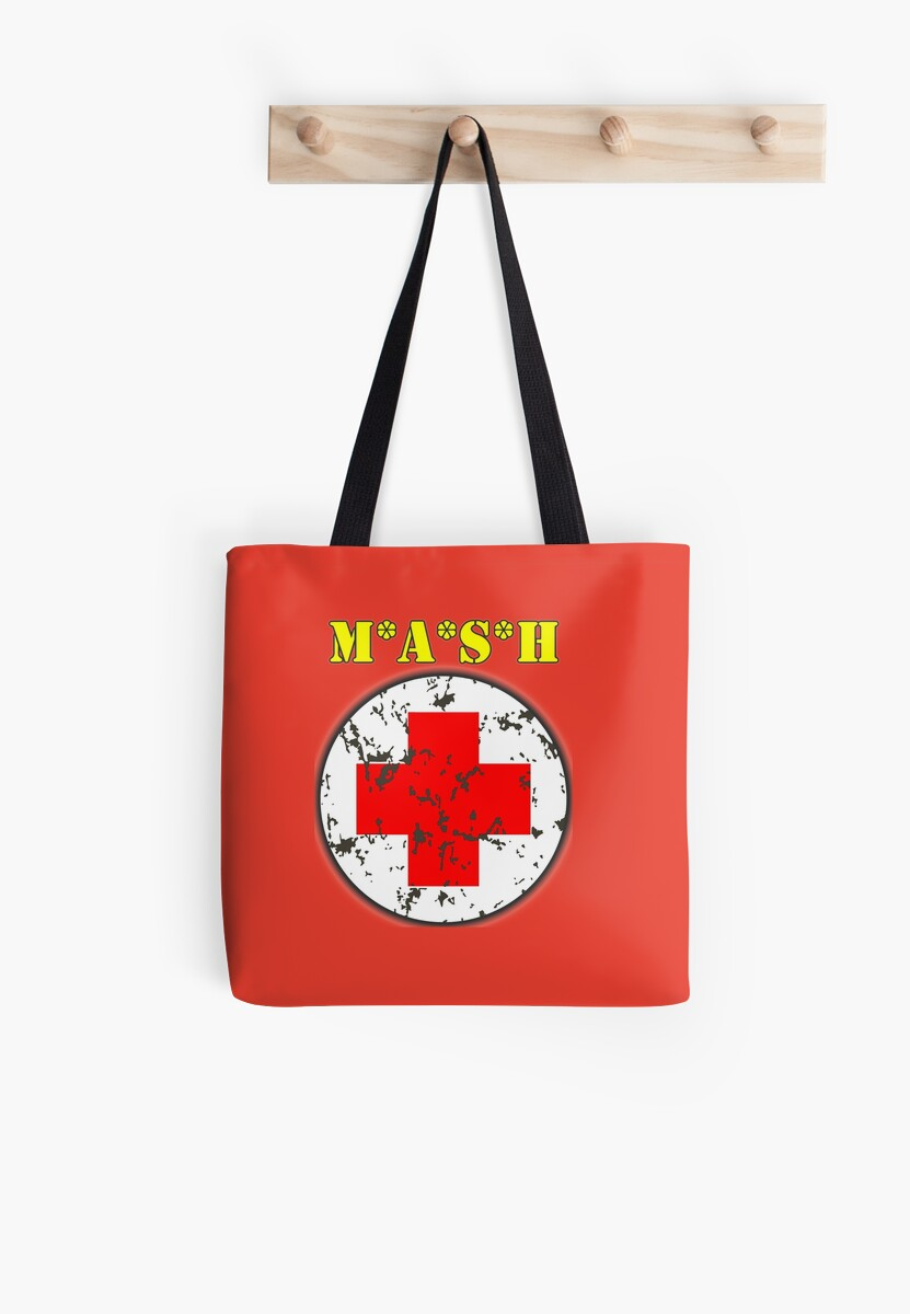 Mash 4077 Medical Symbol Color Cherry Tomato Red Tote Bags By