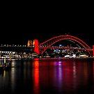 Harbour Bridge in red by andreisky