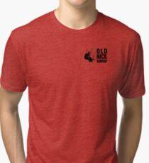 Old Nick Small Logo Black Tri-blend T-Shirt