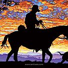 Australian Sunset Drover by iancoate
