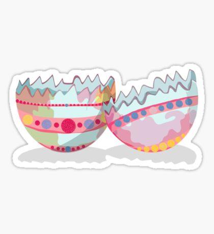 Easter Egg Shells Sticker