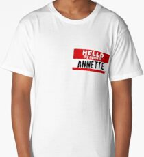Hello My Name Is Annette Name Tag Long T-Shirt