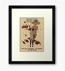 Small People Cast Large Shadows Framed Print
