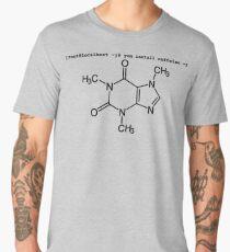 root yum install caffeine -y - Caffeine molecule with Linux love. Men's Premium T-Shirt