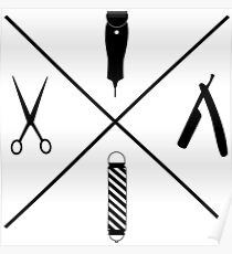 Minimalistic Barbers Poster