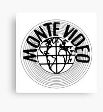 Monte Video VHS video logo Canvas Print