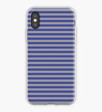 Blue and Grey Horizontal Stripe iPhone Case