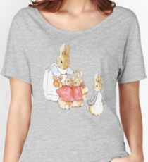 Peter Rabbit Adventures: Mother Says Goodbye and Sends Them Outside Women's Relaxed Fit T-Shirt