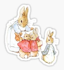 Peter Rabbit Adventures: Mother Says Goodbye and Sends Them Outside Sticker