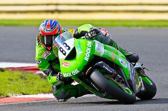 Scott Smart, Hawk Kawasaki, British Super bikes Croft Circiut 2008 by RHarbron