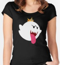 King Boo! Simplistic Design Women's Fitted Scoop T-Shirt