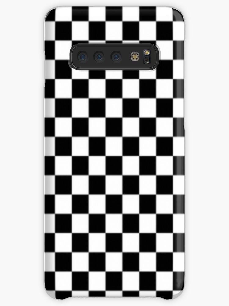designer fashion 19850 ab4a8 'Black and white checkered phone case' Case/Skin for Samsung Galaxy by  okokelza