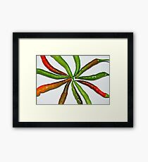 CHILLED CHILLIES Framed Print