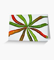 CHILLED CHILLIES Greeting Card