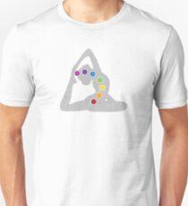 Yoga Pose Chakra Unisex T-Shirt