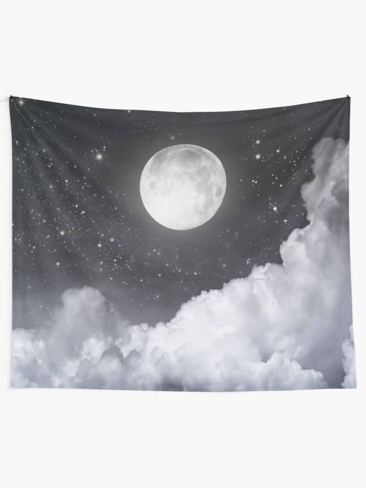 Alternate view of Touch of the moon II Tapestry