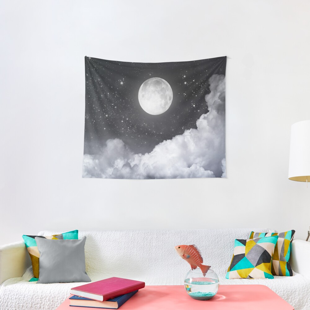 Touch of the moon II Tapestry