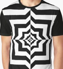 Optical illusion - A black and white relief tunnel Graphic T-Shirt