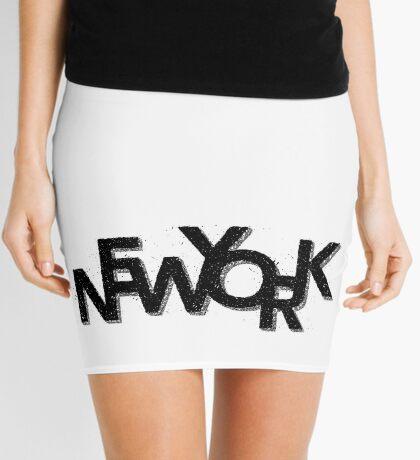 New York Retro 3D Mini Skirt