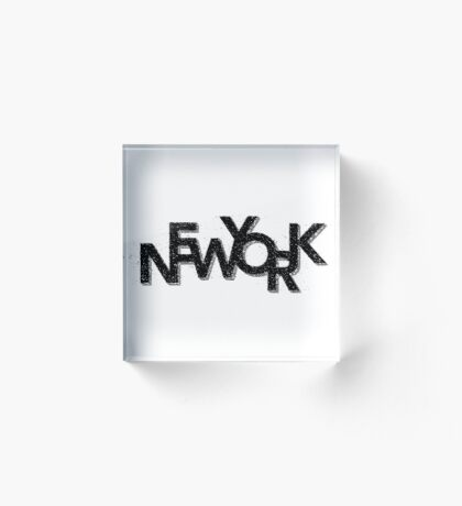 New York Retro 3D Acrylic Block