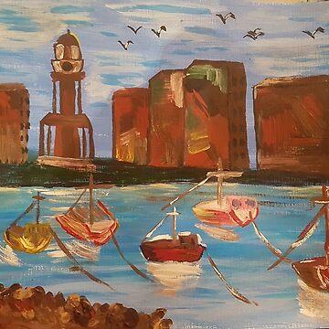 «TOUR DE L'HORLOGE HERNE BAY» par AbigailBarryArt