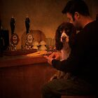 just waiting for a sip of beer by kiran mulholland