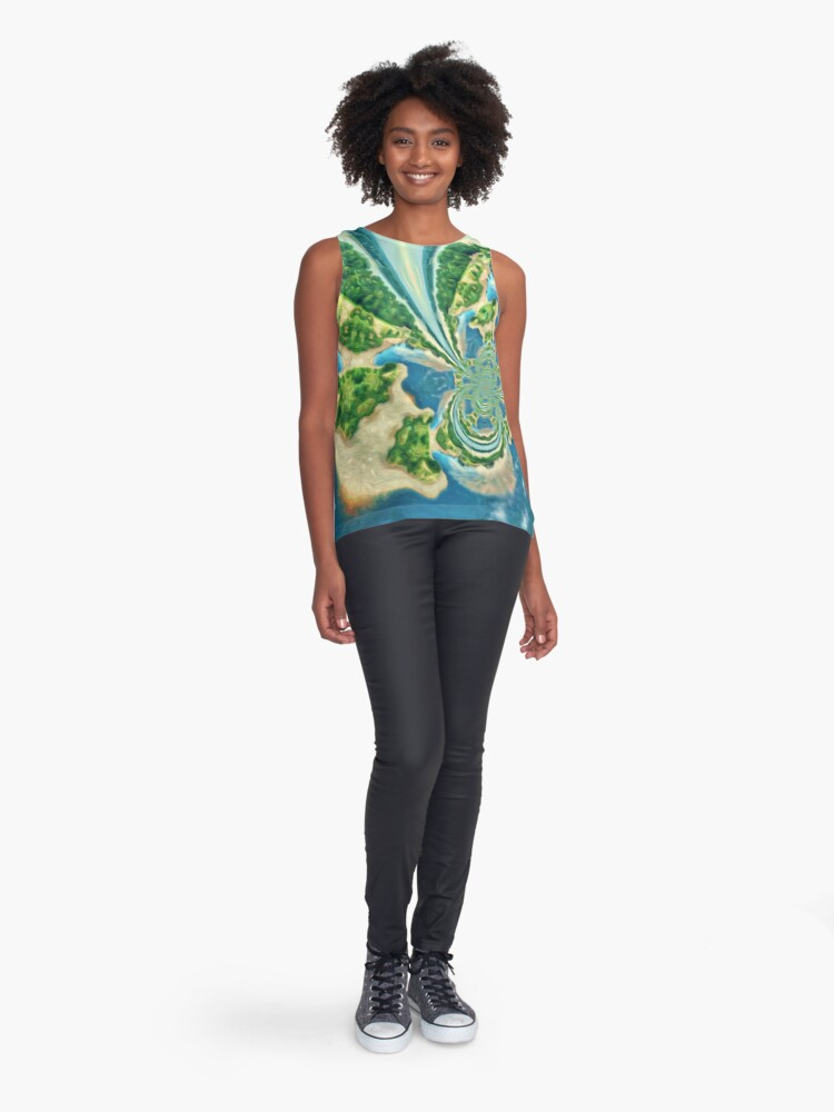 Alternate view of Extraterrestrial planet Sleeveless Top