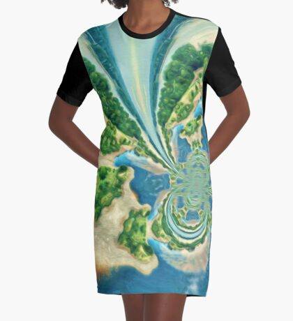 Extraterrestrial planet Graphic T-Shirt Dress
