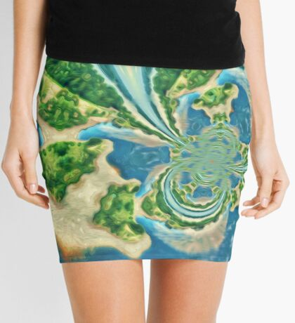 Extraterrestrial planet Mini Skirt