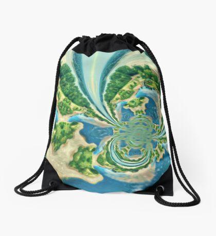 Extraterrestrial planet Drawstring Bag
