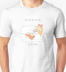 I live life on the edge...of my couch. Unisex T-Shirt