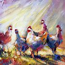 Quirky chooks by Ivana Pinaffo