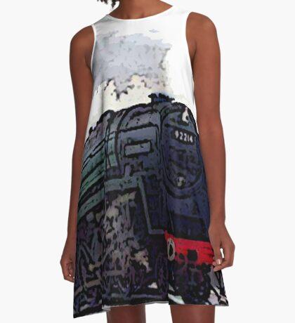 Leicester City 92214 steam train  A-Line Dress