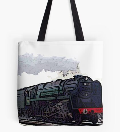 Leicester City 92214 steam train  Tote Bag