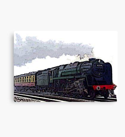 Leicester City 92214 steam train  Canvas Print