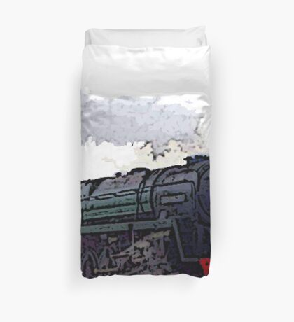 Leicester City 92214 steam train  Duvet Cover