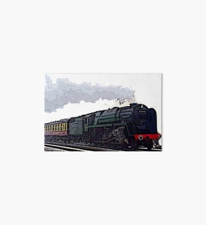 Leicester City 92214 steam train  Art Board