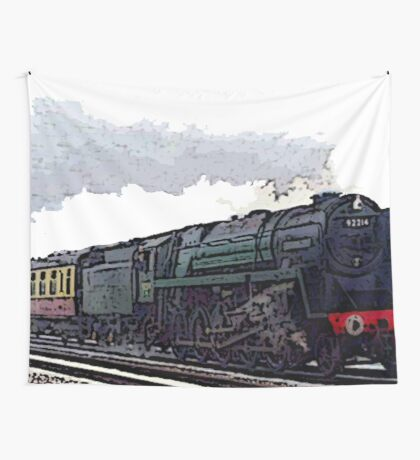 Leicester City 92214 steam train  Wall Tapestry