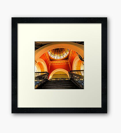 Stepping Up - The Grand Staircase - Queen VIctoria Building - The HDR Experience Framed Print