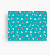 watermelon new cute pattern art green coloured 2018 style cuteness love loved trend popular hot Canvas Print