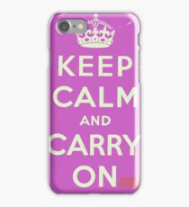 Keep Calm and Carry On Vintage worn iPhone 7 Case
