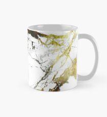 Gold-White Marble Impress Classic Mug