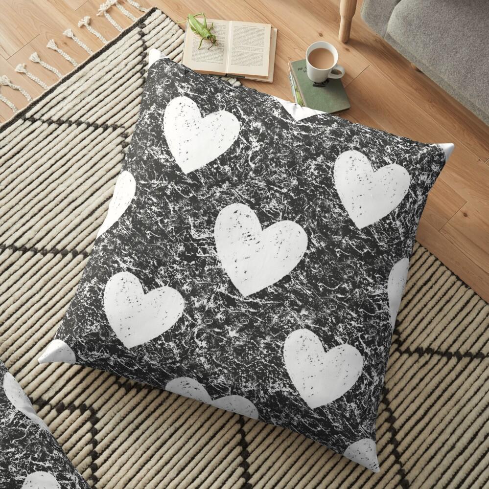Cozy Hearts Floor Pillow